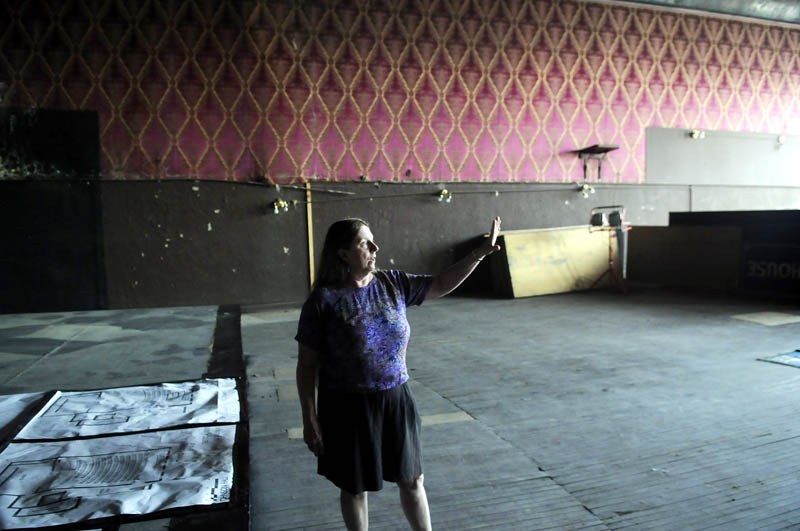Judy Lloyd, executive director of Johnson Hall, said donations will help restore the theater on the third floor of the non-profit performance space in Gardiner. Fundraising effort is underway to restore the historic theater on Water Street.