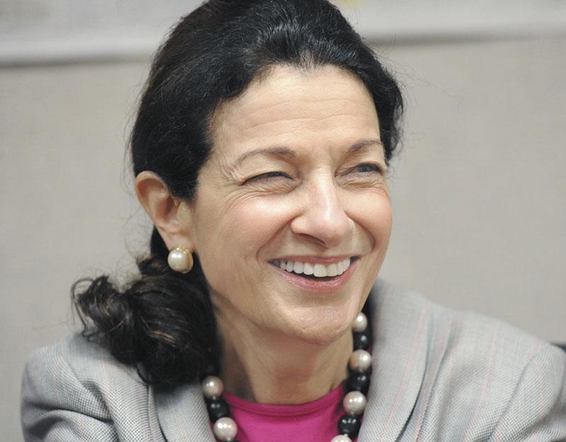 U.S. Sen. Olympia Snowe met with MaineToday Media's editorial board in Portland on Friday.