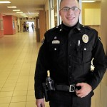 ON DUTY: Winslow police officer Ron McGowan is the new school resource officer at Winslow High School.