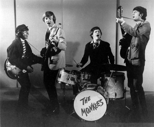 This 1966 photo shows The Monkees. From left are Davy Jones, Peter Tork, Micky Dolenz and Mike Nesmith. Jones sang lead vocals on songs like