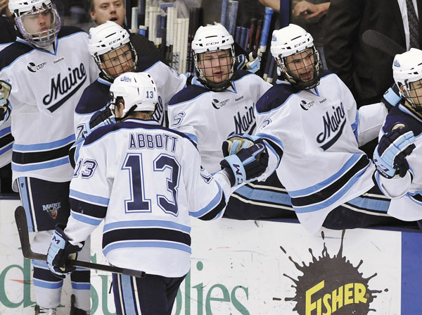A BIG DEAL: Forward Spencer Abbott received two prestigious accolades Thursday evening, being named the Hockey East Player of the Year, while also being included among the 10 finalists for the Hobey Baker Award, presented to the top Division I men's college hockey player.