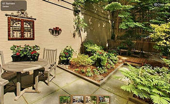 Brooklyn townhouse for sale has coveted outdoor patio.