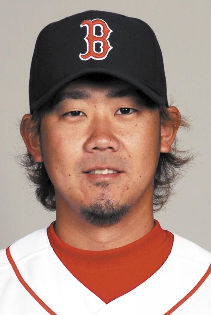 Daisuke Matsuzaka portrait headshot head shot MLB Major League Baseball American League Boston Red Sox