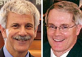 Sen. Roger Katz, R-Augusta, and Rep. Patrick Flood, R-Winthrop