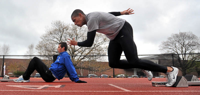 ON THE RUN: Colby College sprinter Dom Kone is the three-time defending New England Small College Athletic Conference champion in the 100-meter dash.