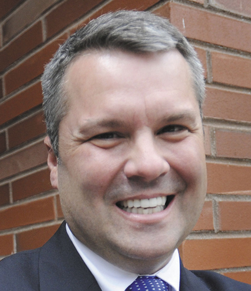 Jon Courtney, a Republican who is running in the June primary for the chance to challenge Congresswoman Chellie Pingree in November.
