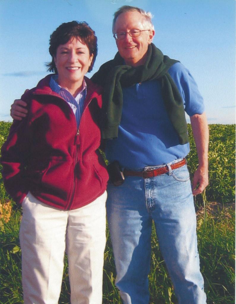 U.S. Sen. Susan Collins poses with her fiance Thomas Daffron.