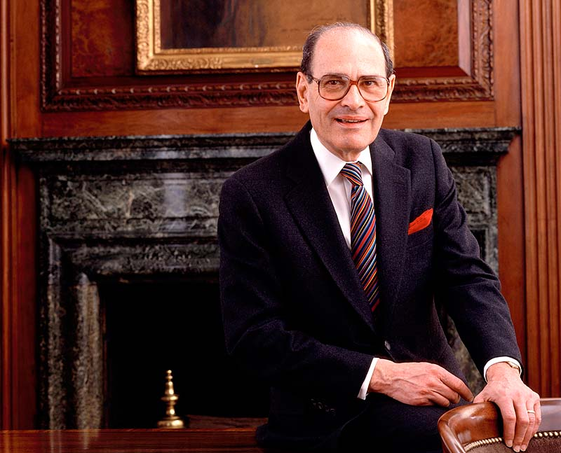 Former New York Times publisher Sulzberger, in this 1992 photo, led the newspaper to new levels of influence and profit amid some of the most significant moments in 20th-century journalism. Sulzberger died Saturday at age 86.
