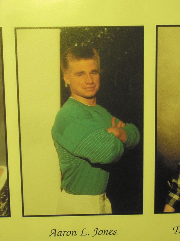 STUDENT DAYS: Aaron L. Jones' yearbook photo from Skowhegan Area High School. He graduated in 1991.