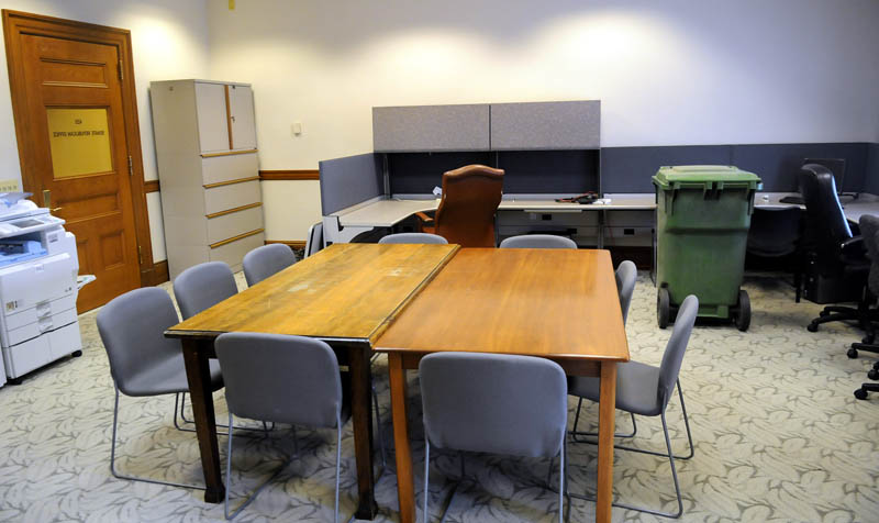 The conference room of the Maine Senate Republicans.