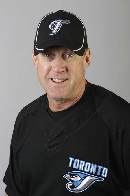 Brian Butterfield, in a 2010 photo when he was third base coach for the Toronto Blue Jays.