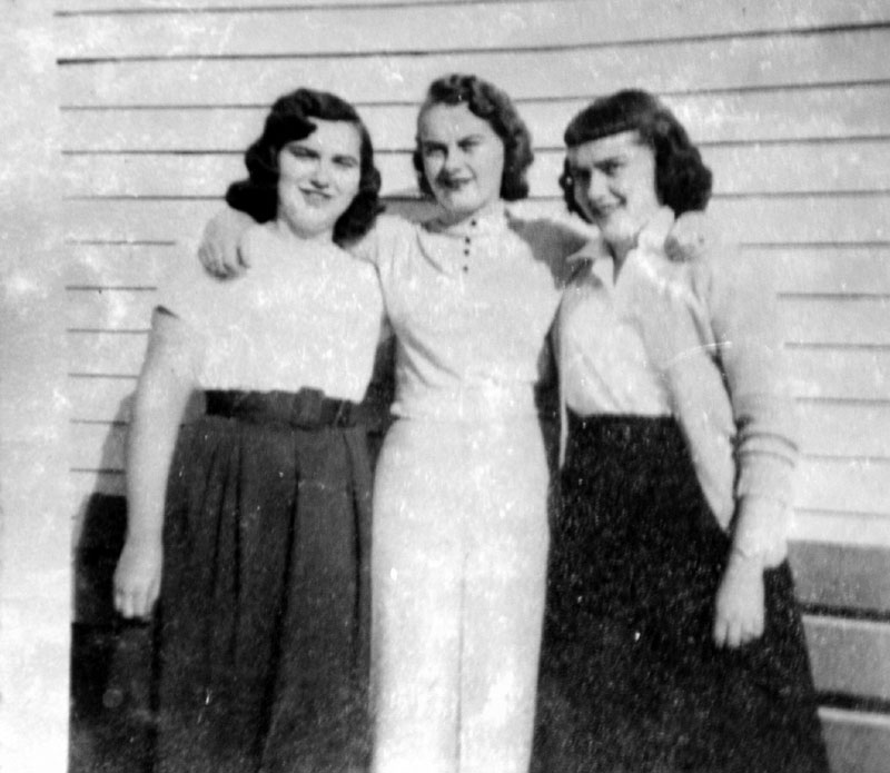MEMORY LANE: Sisters Lorraine Danforth, right, Christine Dupuis and Edna Doyon grew up in Augusta in the 1950s.