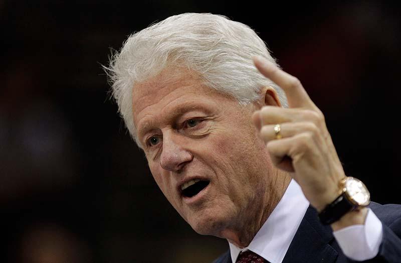 Former President Bill Clinton speaks at a