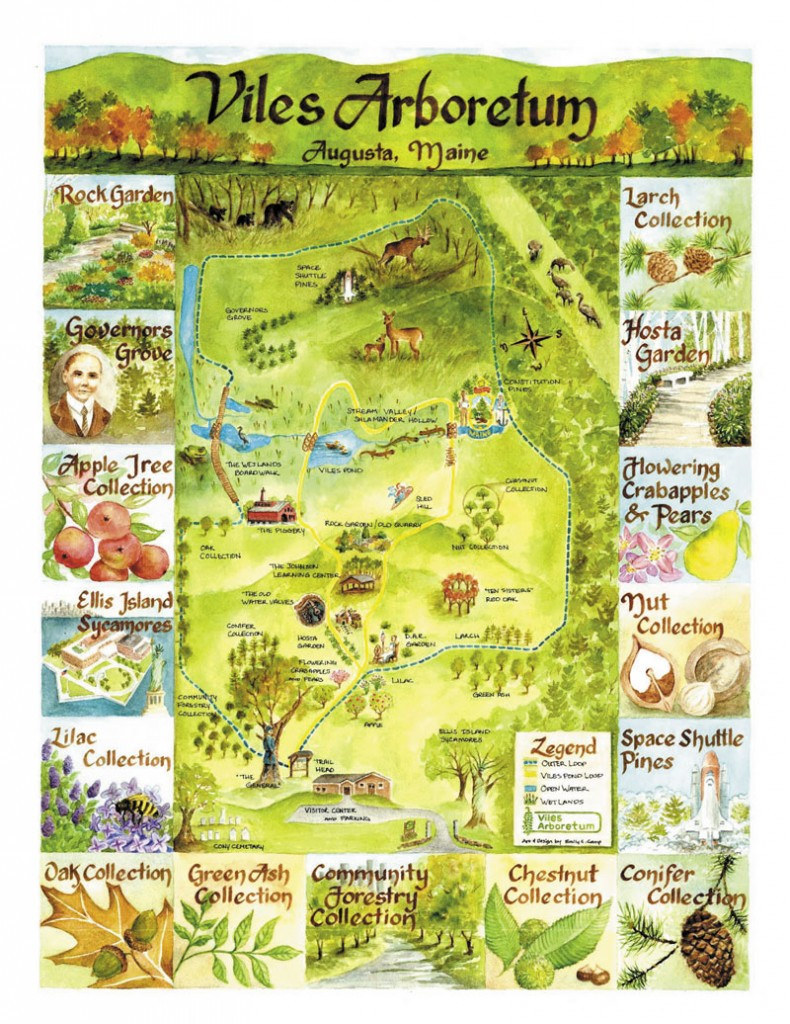 LOOK AROUND: This map of the Viles Arboretum, by Emily Camp, highlights many of the attractions at the Arboretum.