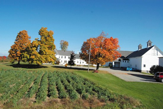 The Highmoor Farm in Monmouth includes a large farmhouse, two large barns, two laboratories, a shop, 10 cold storage lockers, two hoop houses and a greenhouse on 278 acres with 17 acres of apple orchards.