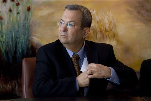 In this 2011 photo, Israeli Defense Minister Ehud Barak attends a press conference in the Knesset, Israel's parliament, in Jerusalem.