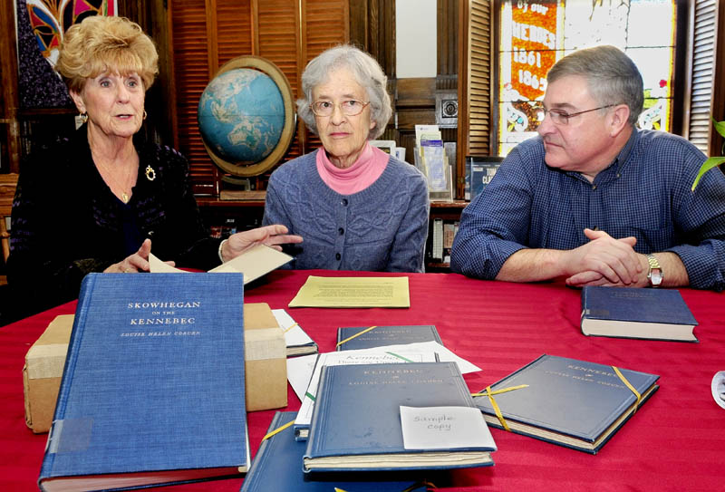 Pat Dickey, left, Corrilla Hastings and Dale Jandreau talk about discovering 170 copies of
