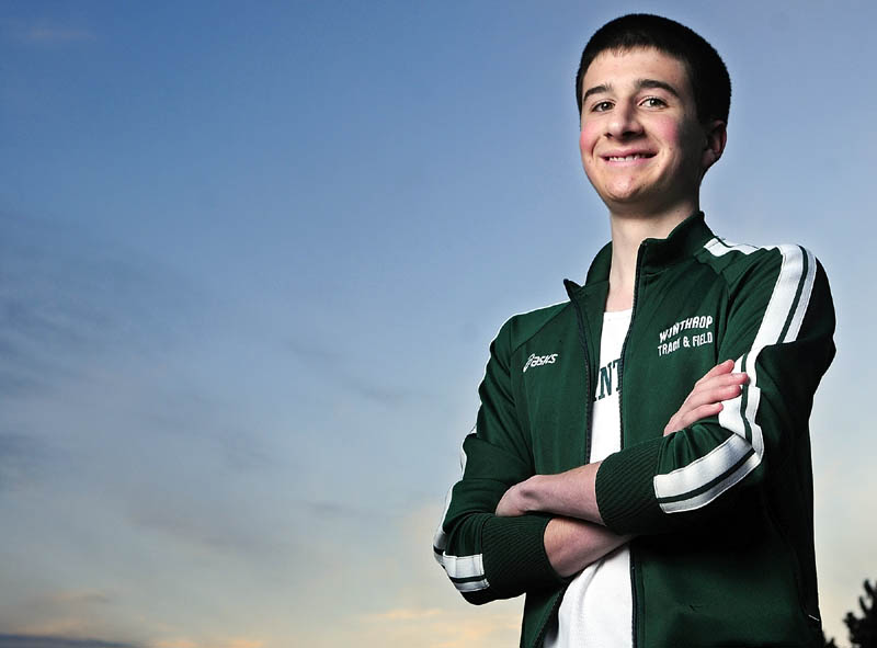 Staff photo by Joe Phelan Winthrop's Marc Hachey is the 2012 Kennebec Journal Cross Country Runner of the Year