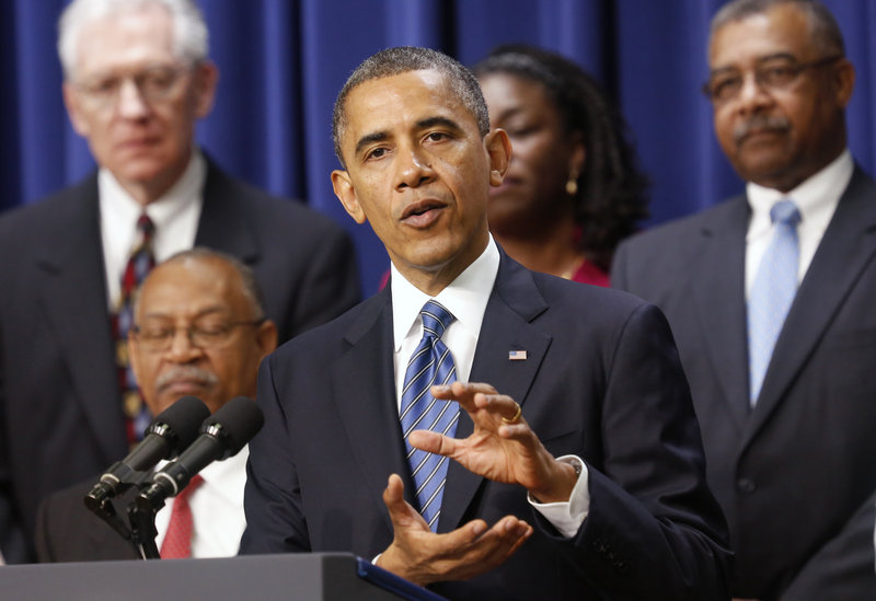 "President Obama speaks at the White House Wednesday. He said reaching agreement to avoid the looming ""fiscal cliff"" is ""too important for Washington to screw up."""