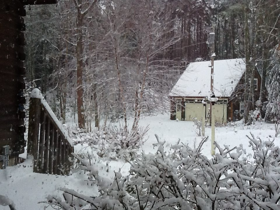 Early morning snowfall in the Augusta area on Thursday.