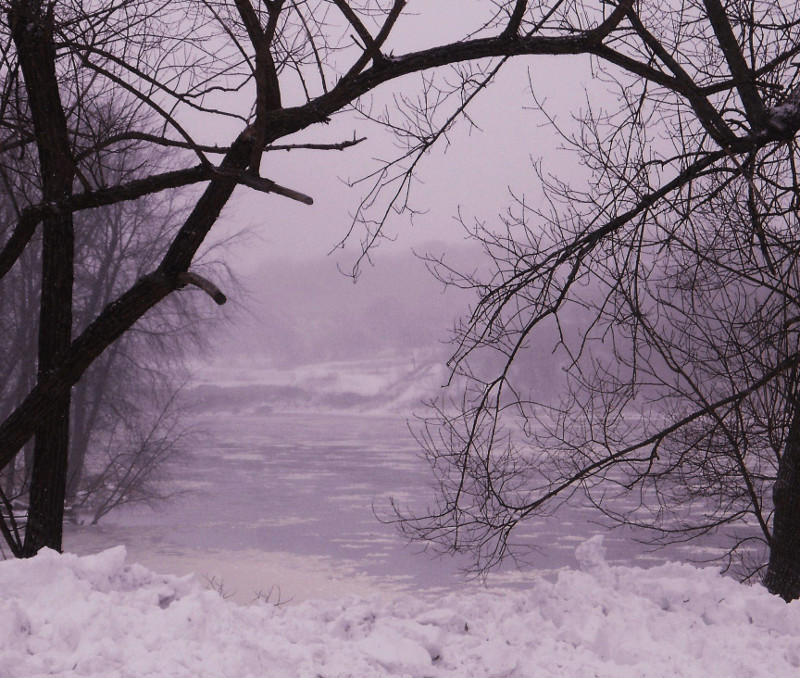 The Kennebec River looking north, near Mill Park on Water Street in Augusta, on Thursday,