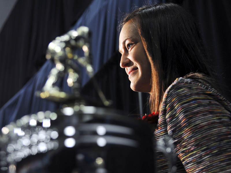 MISS MAINE: Messalonskee High School's Kristy Bernatchez won the Miss Maine Field Hockey award Sunday in Augusta.