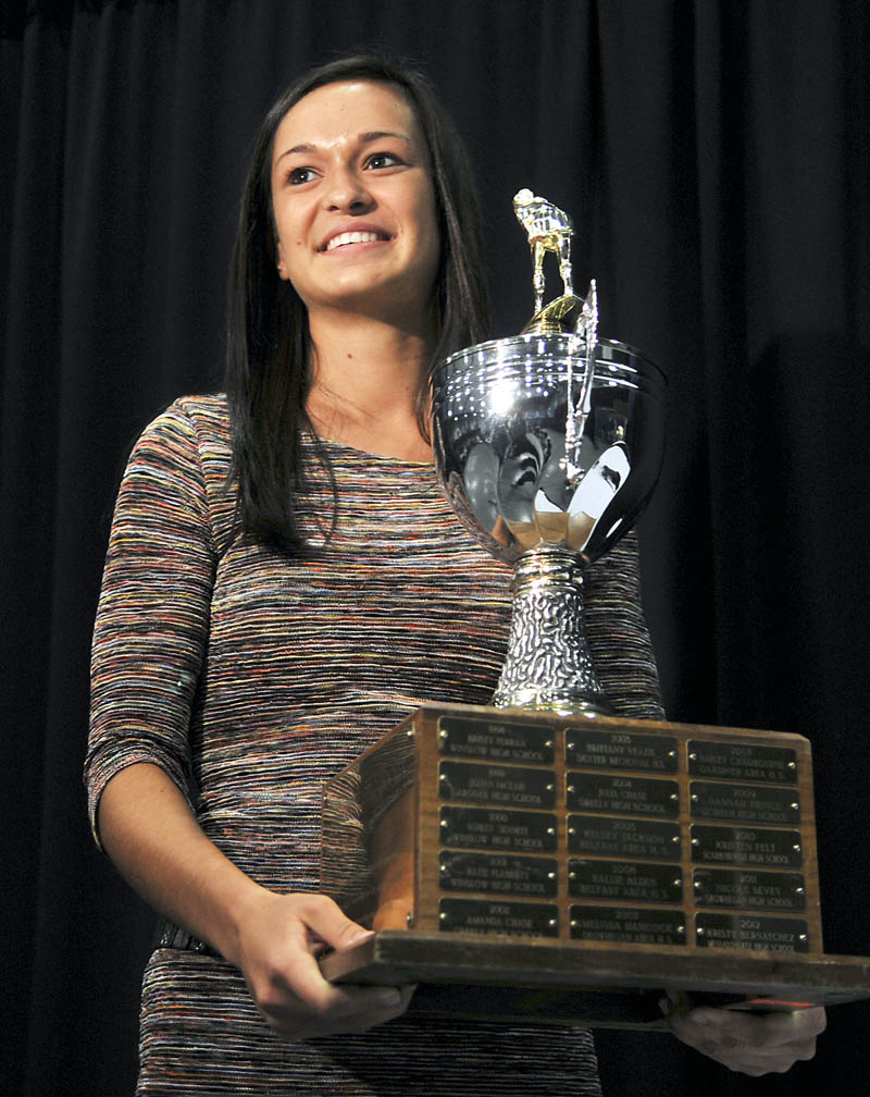 HONORED: Messalonskee High School's Kristy Bernatchez finished her high school field hockey career with 70 goals and 31 assists.