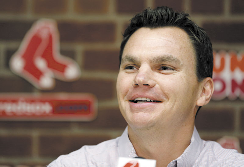 BUILDING HIS TEAM: Boston Red Sox general manager Ben Cherington has not made any splashy moves this offseason, but he hasn't traded away any prospects either.