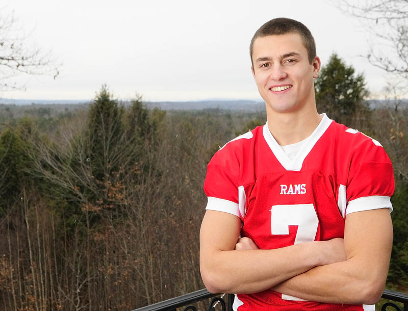 Staff photo by Joe Phelan Cony's Chandler Shostak is the 2012 Kennebec Journal football player of the year.