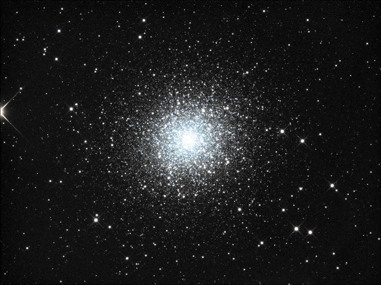 Globular cluster M13 is seen in the constellation Hercules.