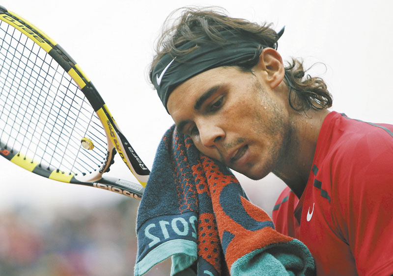 NOT SO FAST: Rafael Nadal will miss the Australian Open because of a stomach virus, further delaying his comeback after being sidelined since June.