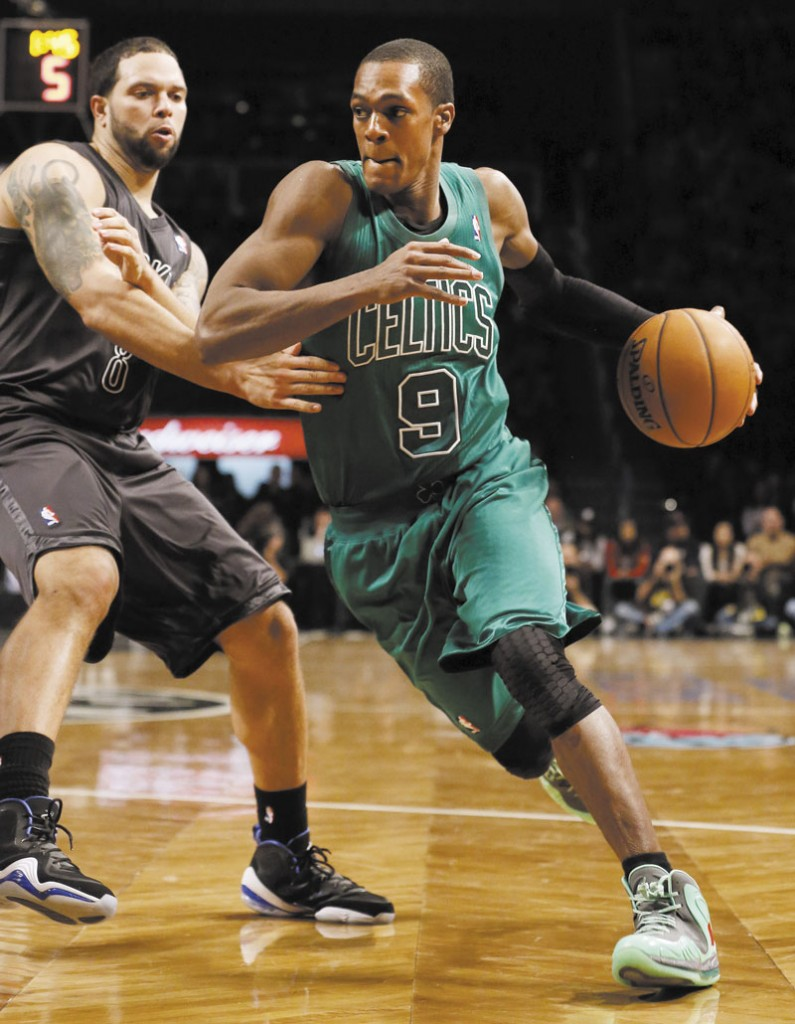MERRY CHRISTMAS: Rajon Rondo scored 19 points to lead the Boston Celtics to a 93-76 win over the Brooklyn Nets on Tuesday afternoon at the Barclays Center.