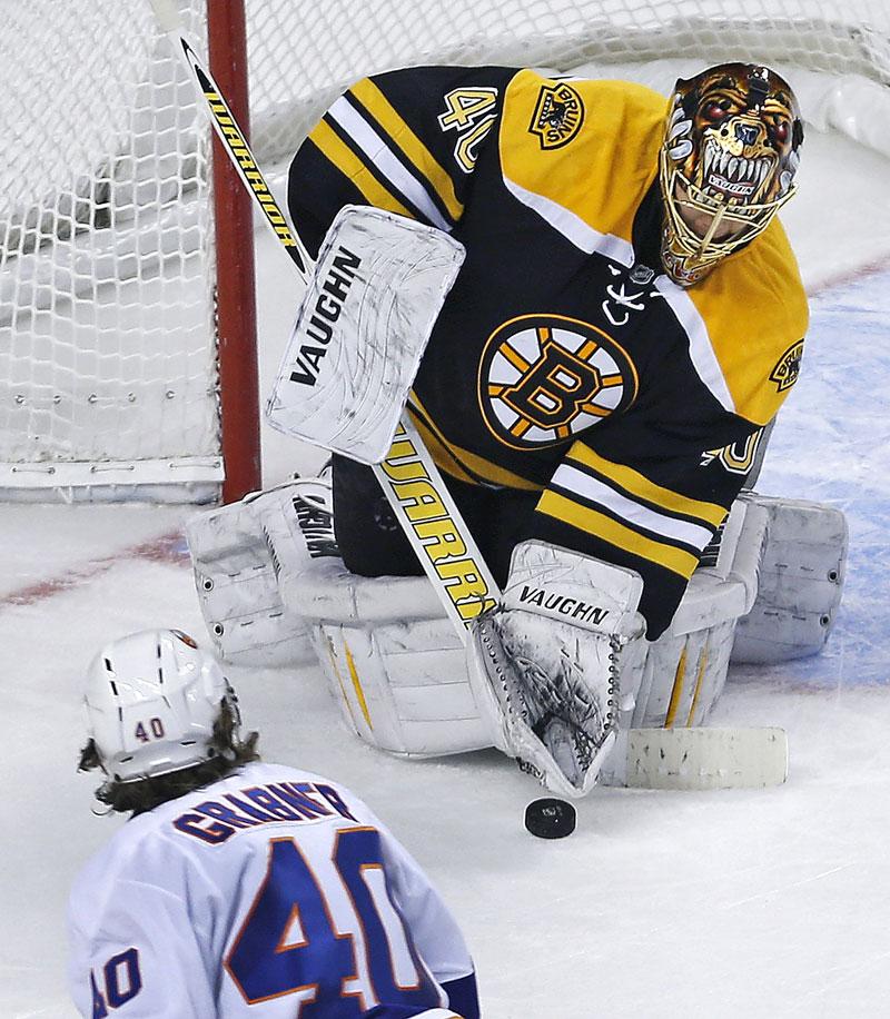 Tuuka Rask made 24 saves in the Bruins win vs. the Islanders on Friday.