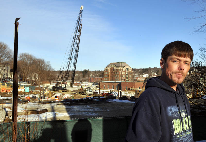 Scott Theriault said the noise at his house, at 6 Court St. in Augusta, on Monday is to be expected from the construction of the Kennebec County court houses project.