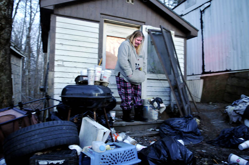 Becky Ratcliff stays in an outbuilding she describes as a