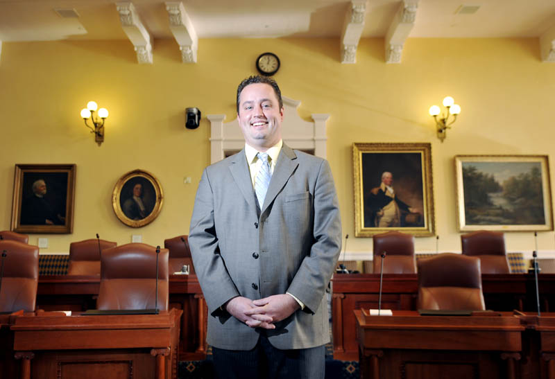 Darek Grant, of Augusta, will serve as the secretary of the Senate for the 2013-2014 term.