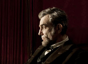 Daniel Day-Lewis portrays Abraham Lincoln in the film