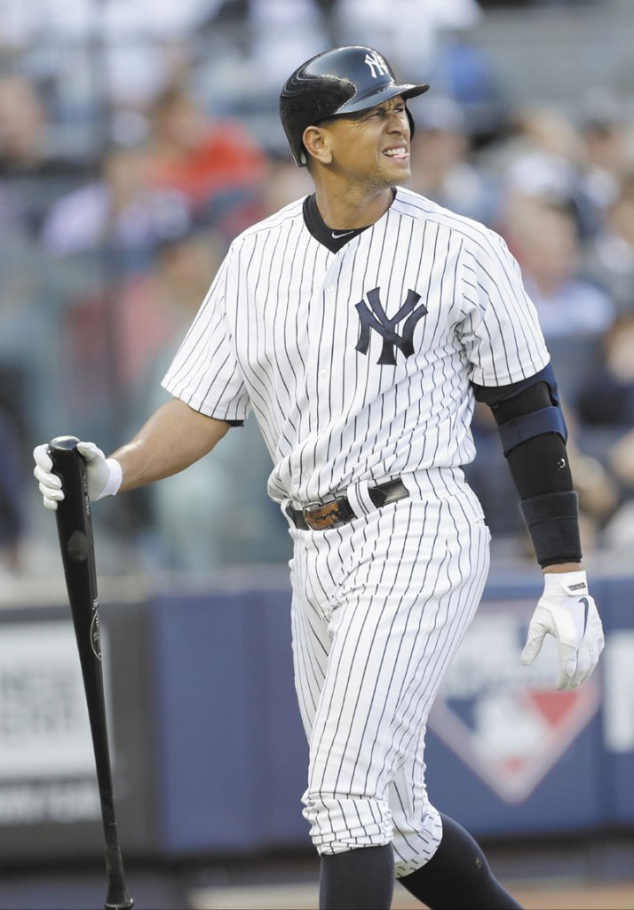 TIRED ACT: New York Yankees' third baseman Alex Rodriguez, who hasn't played a full season since 2007, was accused of purchasing performance-enhancing drugs in a story released Tuesday.