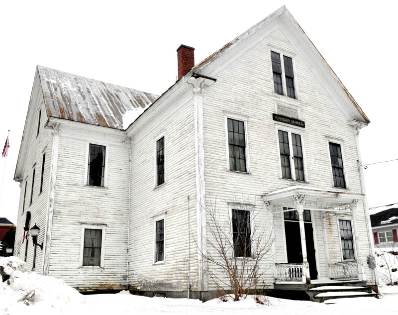 The former Skowhegan Grange has been purchased by contractor Stephen Dionne and Somerset Grist Mill owner Amber Lambke, and will be extensively renovated.