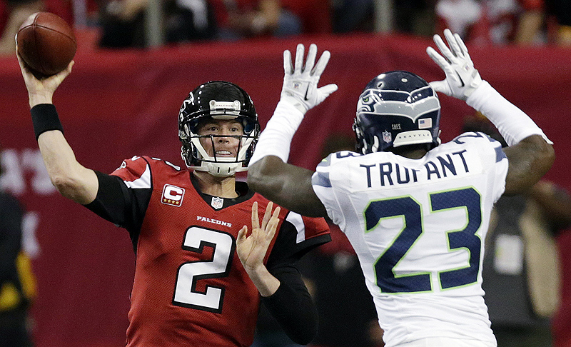Atlanta quarterback Matt Ryan (2) shook off losses in his three previous playoff games, making two key passes in the final 31 seconds to set up Matt Bryant's winning kick. Georgia Dome