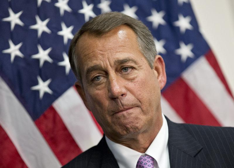 Republican Speaker of the House John Boehner