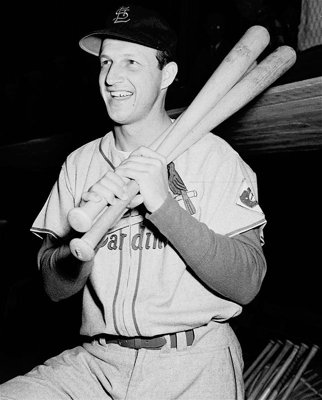 Stan Musial held 55 records when he retired in 1963 after 22 seasons with the St. Louis Cardinals. His nickname was Stan The Man, one that he truly deserved.