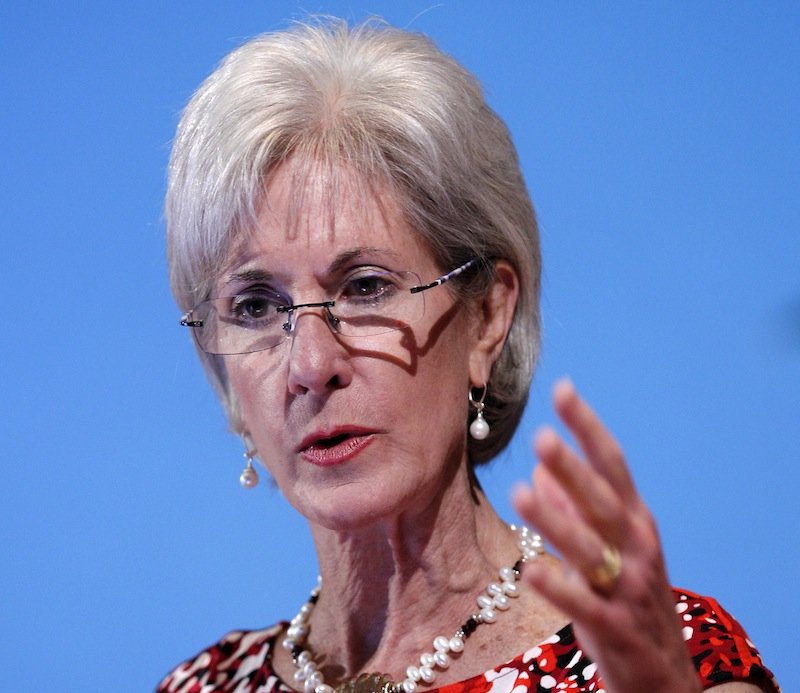 In this May 15, 2012 file photo, Health and Human Services Secretary Kathleen Sebelius speaks in Bethesda, Md. Facing a wave of lawsuits over what government can tell religious groups to do, the Obama administration on Friday proposed a compromise for faith-based nonprofits that object to covering birth control in their employee health plans. Sebelius said in a statement that the compromise would provide