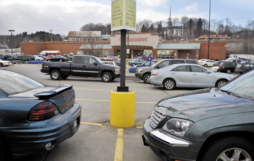 The location where Winthrop Police Chief Joe Young confronted Joel Coons, of Dresden, with a pistol in the parking lot of the Gardiner Hannaford store on Aug. 27.