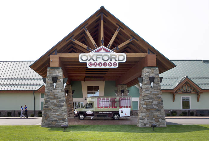 The Oxford Casino is seen Thursday, Aug. 30, 2012, in Oxford, Maine. (AP Photo/Robert F. Bukaty)