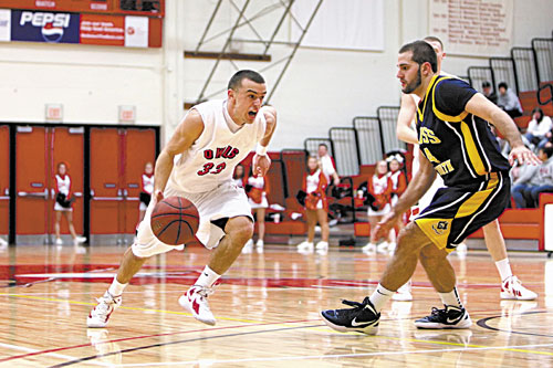 COMING AT YOU: Maranacook graduate Ryan Martin is averaging 14.7 points per game for Keene State.