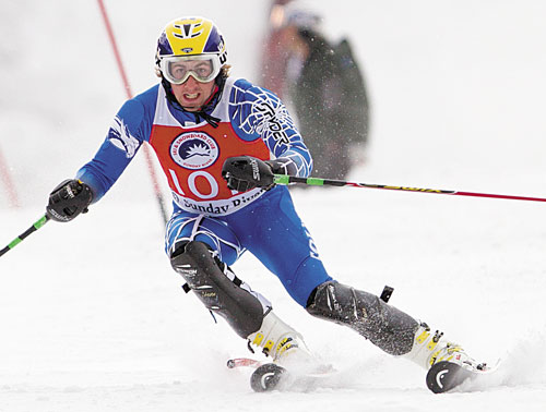 DOWNHILL: Colby College skier Craig Marshall hopes to return this weekend from a bout of mononucleosis.