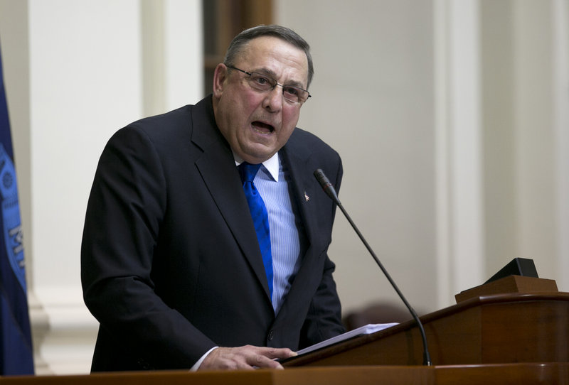 Gov. Paul LePage attempts to mix humor and introspection with calls for action in his State of the State address Tuesday, but confrontation remains part of his agenda.