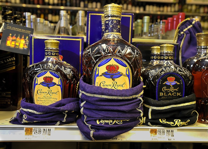 A Crown Royal display at the Bow Street Market in Freeport. Senate Majority Leader Seth Goodall, D-Richmond, touted Friday the benefits of a bill he sponsored to repay debt owed the state's hospitals using an upfront fee tied to the state liquor contract.