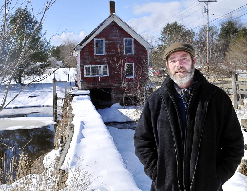 Paul Kelley, the manager of the company that owns the Clary Lake dam in Whitefield, is pictured at the property Tuesday.